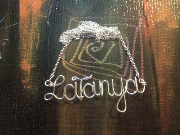 LaTanya Sterling Silver Wire Necklace
