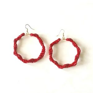 Red-Suede-Earrings