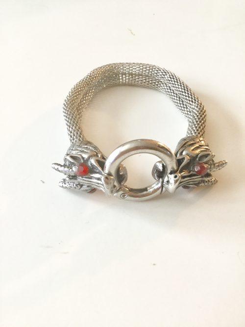 Rhinestone-and-Mesh-Unisex-Bracelet