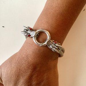 Rhinestone-and-Mesh-Unisex-Bracelet-on-Wrist