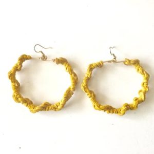 Yellow-Suede-Hoops